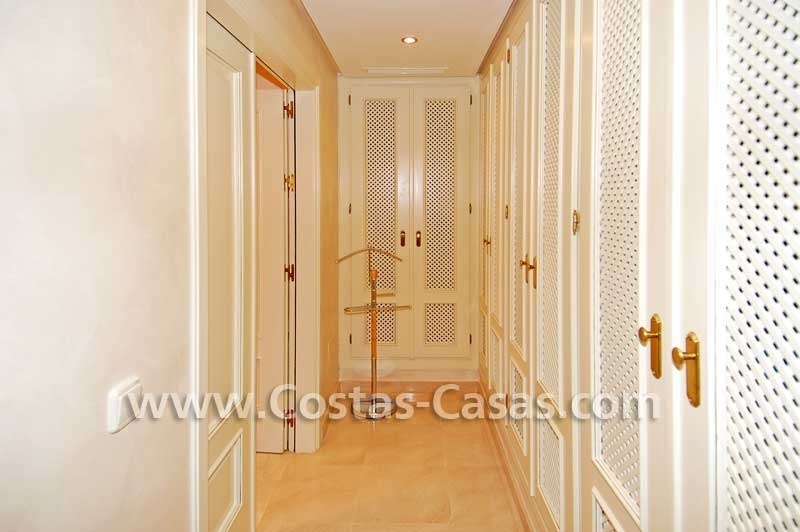 Luxury frontline penthouse apartment for sale, exclusive first line beach complex, New Golden Mile, Marbella - Estepona 14