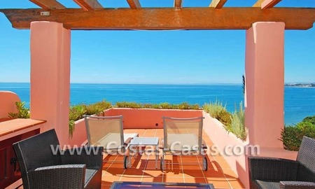 Luxury frontline penthouse apartment for sale, exclusive first line beach complex, New Golden Mile, Marbella - Estepona 0