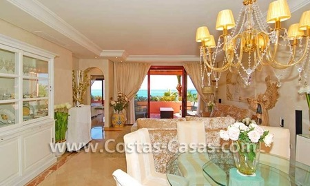 Luxury frontline penthouse apartment for sale, exclusive first line beach complex, New Golden Mile, Marbella - Estepona 8