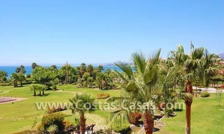 Luxury first line beach penthouse apartment for sale in a frontline beach complex on the New Golden Mile, between Puerto Banus in Marbella and Estepona centre 1