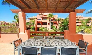 Luxury first line beach penthouse apartment for sale in a frontline beach complex on the New Golden Mile, between Puerto Banus in Marbella and Estepona centre 6