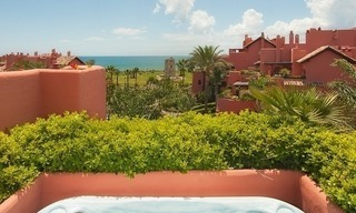 Luxury penthouse apartment for sale in a first line beach complex on the New Golden Mile, Marbella - Estepona 1