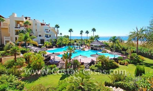 Luxury apartment for sale, frontline beach complex, New Golden Mile, Marbella - Estepona