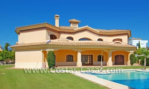 New modern andalusian style villa for sale, golf resort, New Golden Mile, Puerto Banus - Marbella, Benahavis - Estepona