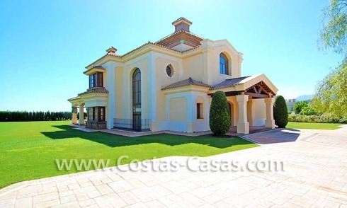 New modern andalusian style villa to buy, golf resort, New Golden Mile, Puerto Banus - Marbella, Estepona
