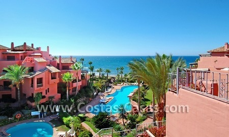 Luxury duplex penthouse for sale, frontline beach complex, New Golden Mile, Marbella - Estepona 0
