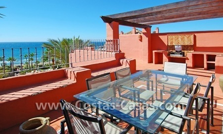 Luxury duplex penthouse for sale, frontline beach complex, New Golden Mile, Marbella - Estepona 1