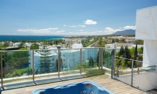 Exclusive new luxury modern apartments and penthouses for sale on the Golden Mile near Marbella centre 0
