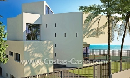 Beachfront new luxury villas for sale, first line beach Marbella - Costa del Sol 1