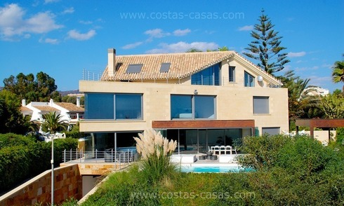 Beachfront modern villa for sale in Marbella