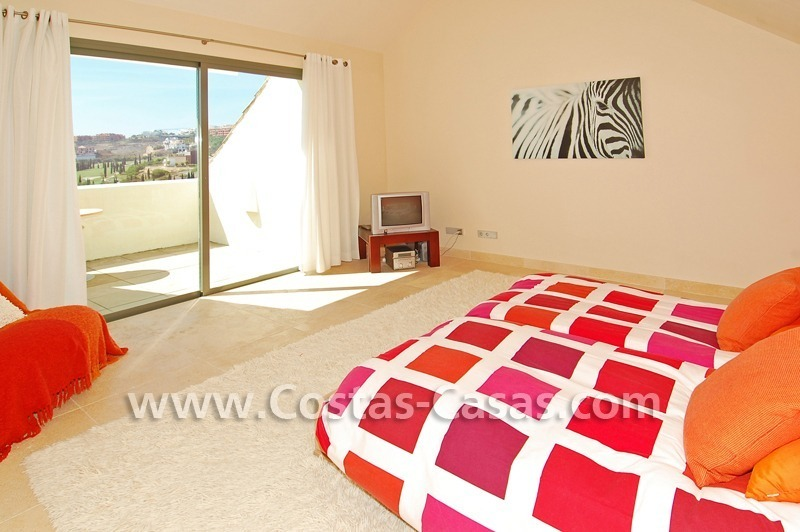 Luxury frontline golf modern penthouse for sale in a 5*golf resort, Benahavis - Estepona - Marbella 19