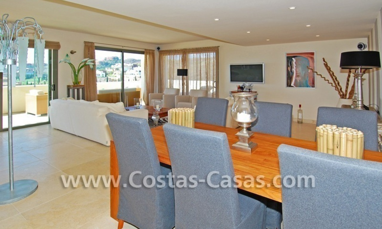 Luxury frontline golf modern penthouse for sale in a 5*golf resort, Benahavis - Estepona - Marbella 12
