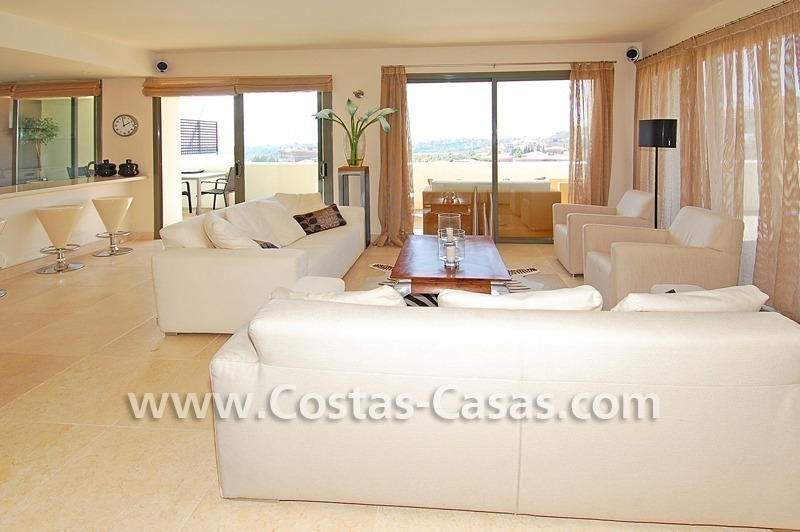 Luxury frontline golf modern penthouse for sale in a 5*golf resort, Benahavis - Estepona - Marbella 9