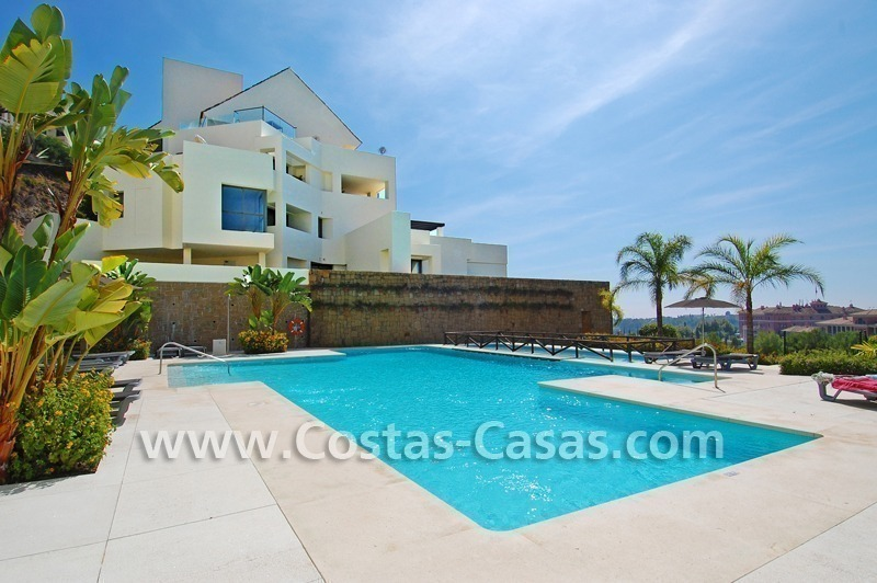 Luxury frontline golf modern penthouse for sale in a 5*golf resort, Benahavis - Estepona - Marbella 7