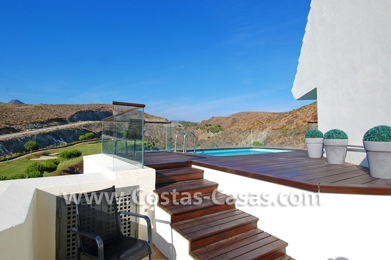 Luxury frontline golf modern penthouse for sale in a 5*golf resort, Benahavis - Estepona - Marbella 5