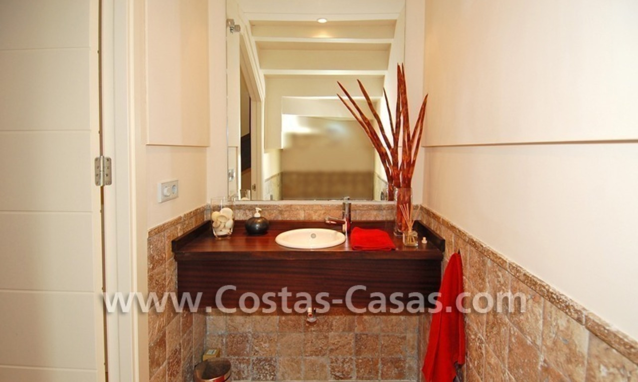 Luxury frontline golf modern penthouse for sale in a 5*golf resort, Benahavis - Estepona - Marbella 14