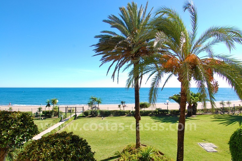 Beachfront penthouse apartment for sale on the New Golden Mile between Marbella and Estepona centre