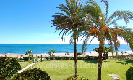 Beachfront penthouse apartment for sale on the New Golden Mile between Marbella and Estepona centre 0