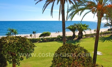 Beachfront penthouse apartment for sale on the New Golden Mile between Marbella and Estepona centre 1