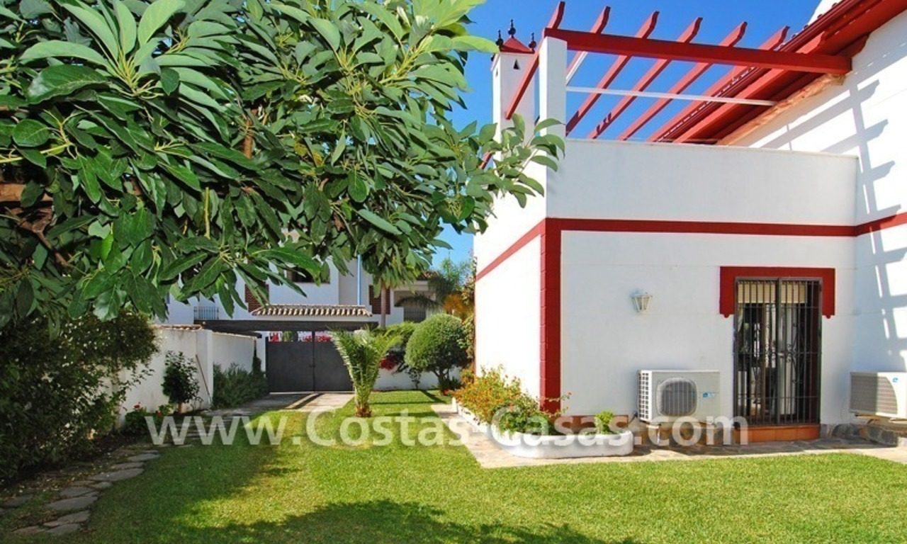Andalusian styled beachside villa for sale in Marbella 2