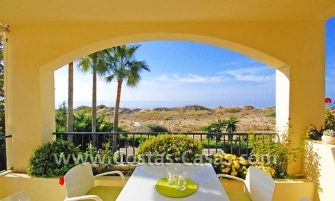 Front line beach apartment for sale in Marbella