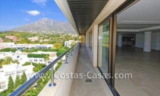 Unique luxury contemporary penthouse apartment for sale in Marbella on the Golden Mile near central Marbella 2