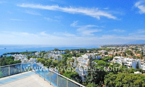 Unique luxury contemporary penthouse apartment for sale in Marbella on the Golden Mile near central Marbella