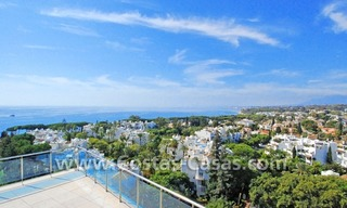 Unique luxury contemporary penthouse apartment for sale in Marbella on the Golden Mile near central Marbella 0