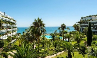 Front line beach apartment for sale on the Golden Mile in Marbella 0