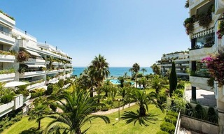Front line beach apartment for sale on the Golden Mile in Marbella 1