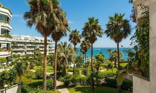 First line beach apartment for sale on the Golden Mile in Marbella 0