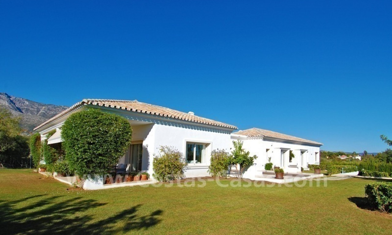 Modern Andalusian villa to buy on the Golden Mile in Marbella 0