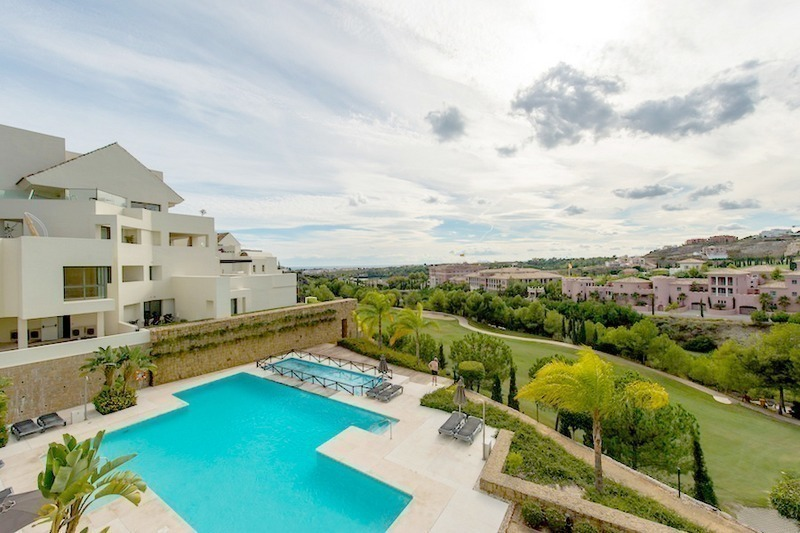 Luxury first line golf modern contemporary penthouse for sale, 5*golf resort, Benahavis - Marbella