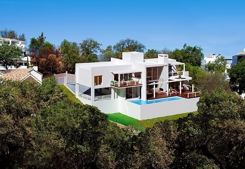 Modern contemporary villa under construction for sale in the Marbella area