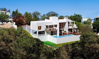 Modern contemporary villa under construction for sale in the Marbella area 0