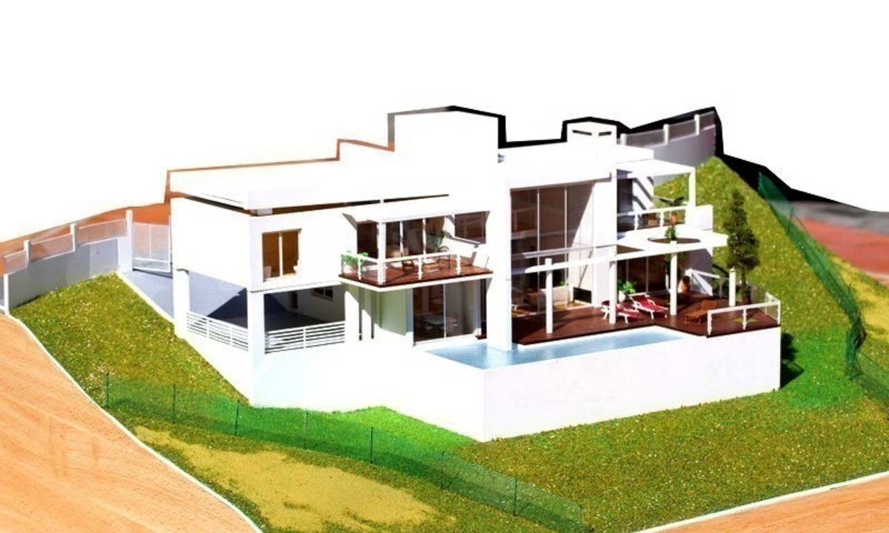 Modern contemporary villa under construction for sale in the Marbella area 2