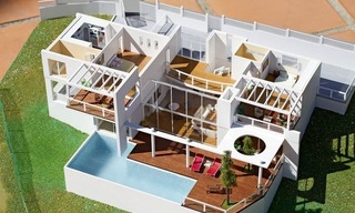 Modern contemporary villa under construction for sale in the Marbella area 4