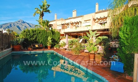 Double townhouse for sale on the Golden Mile near Puerto Banus