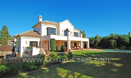 Modern andalusian beach villa to rent long term in Marbella area 1