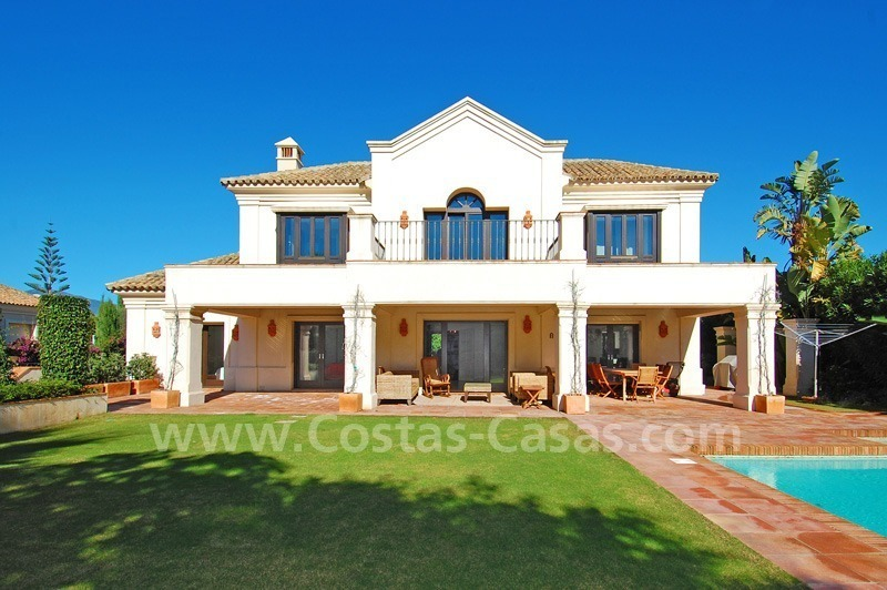 Modern andalusian beach villa to rent long term in Marbella area