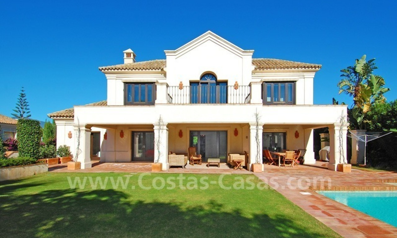 Modern andalusian beach villa to rent long term in Marbella area 0