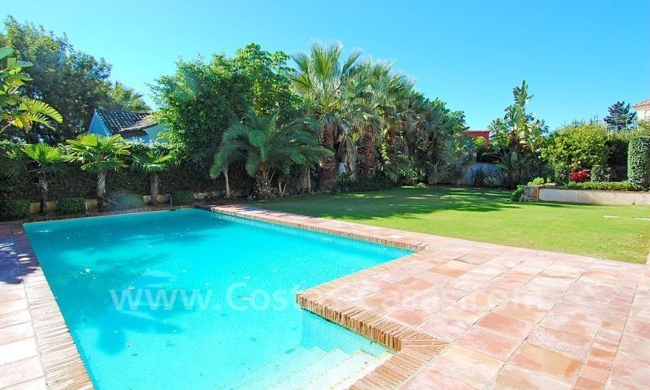 Modern andalusian beach villa to rent long term in Marbella area 2
