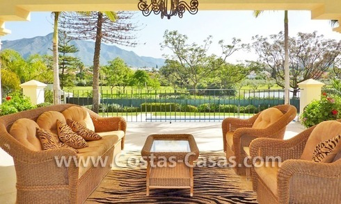 Front line golf luxury villa for sale in Nueva Andalucia, Marbella