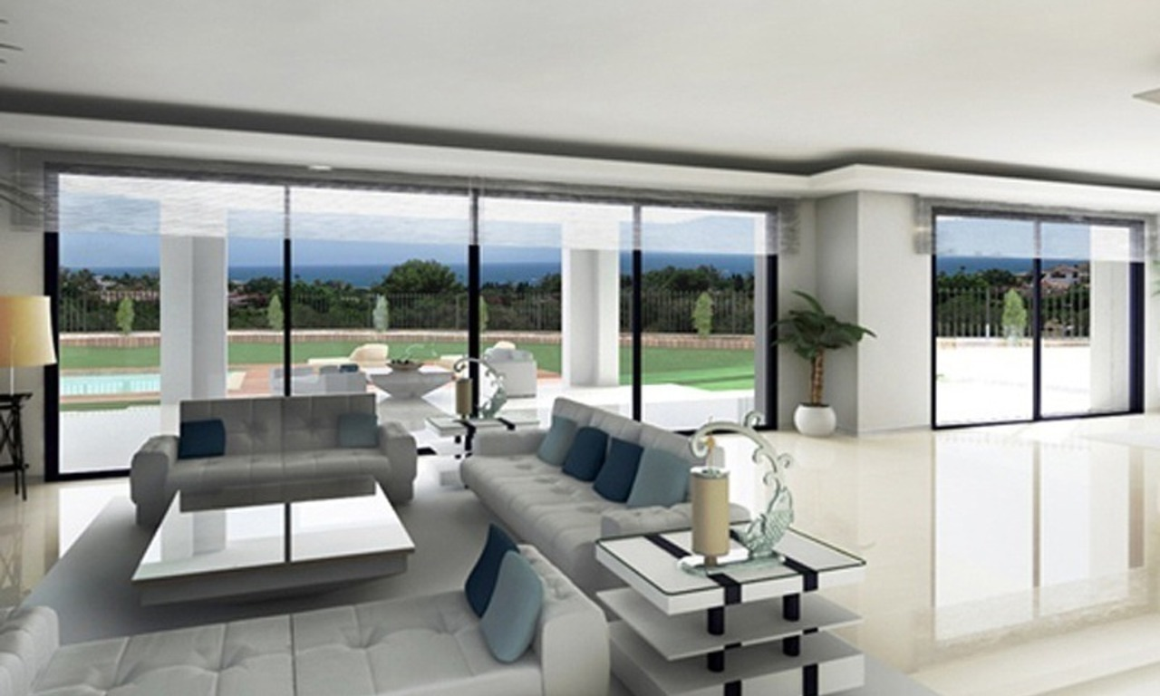 Modern villa under construction for sale, Marbella – Benahavis 0