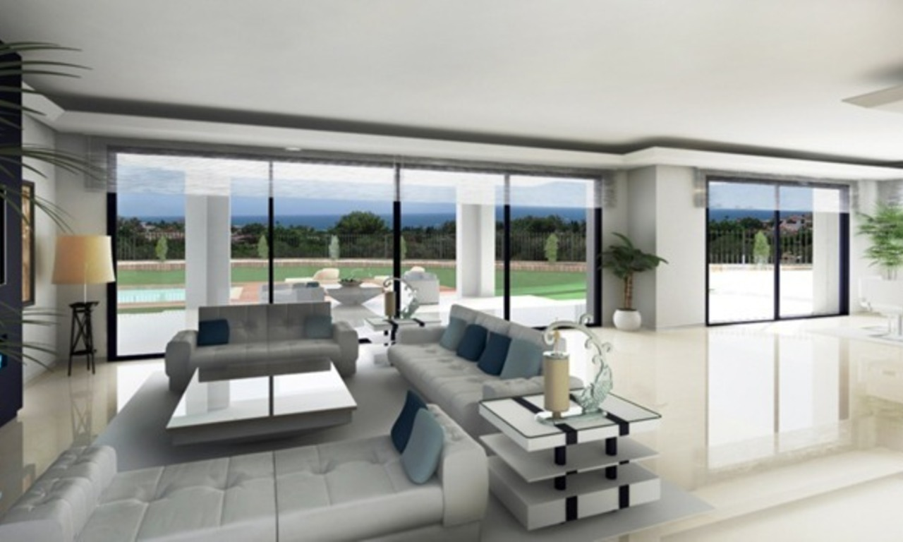 Modern villa under construction for sale, Marbella – Benahavis 1