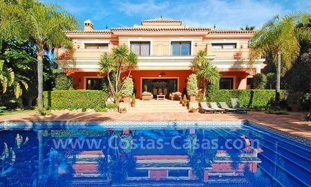 Classical Andalusian villa for sale on the Golden Mile in Marbella