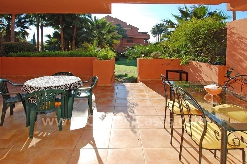 Luxury ground floor apartment for sale beachside in Nueva Andalucia, Puerto Banus - Marbella