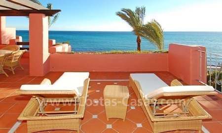 Luxury frontline beach corner penthouse for sale, first line beach complex, New Golden Mile, Marbella - Estepona 0
