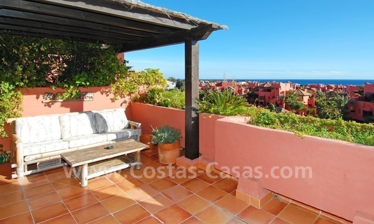 Beachside penthouse apartment for sale in a second line beach complex on the New Golden Mile, Marbella - Estepona 0