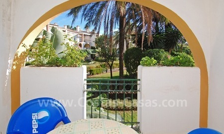 Bargain! Ground floor apartment for sale, first line beach complex, New Golden Mile, Marbella - Estepona